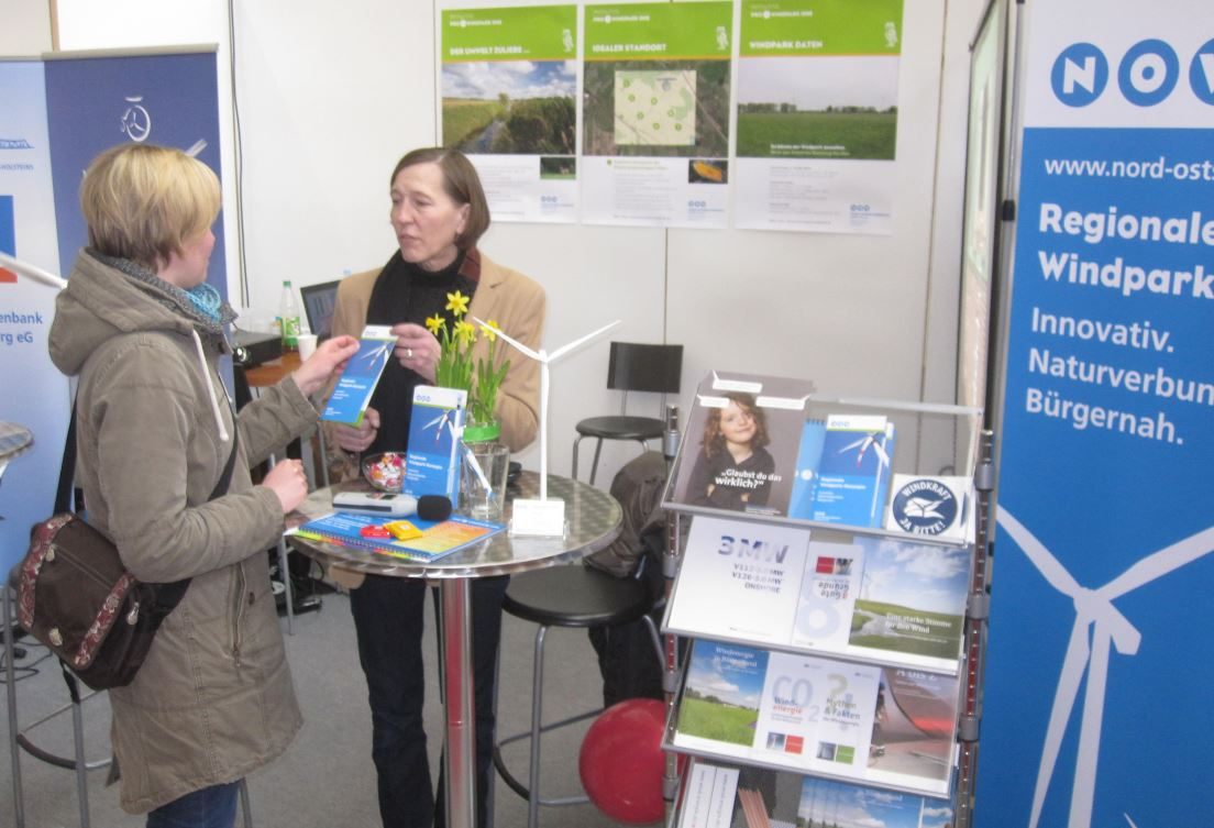Christiane Struck (rechts) im Gespräch